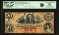 Obsoletes By State:Missouri, St. Louis, MO - Bank of St. Louis (2nd) $20 18__ MO-50 UNL. Proof. PCGS Choice About New 58 Apparent.. ...