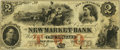 Obsoletes By State:New Hampshire, New Market, NH - New Market Bank $2 Dec. 3, 1855 NH-230 G4a. PCGS Very Fine 30.. ...