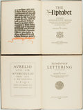Books:Books about Books, Frederic W. Goudy. The Alphabet. [together with:] Elements of Lettering. New York: Mitchell Kennerley, 1... (Total: 2 Items)