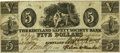 Obsoletes By State:Utah, (Salt Lake City, U.T.) - Reissued Kirtland Safety Society Bank $5 Mar. 8, 1837 OH-245 G8 Rust 70. PCGS Very Fine 25.. ...