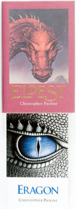 Books:Children's Books, Christopher Paolini. Pair of SIGNED Books from The InheritanceCycle. Includes: Eragon. Paolini Internat... (Total: 2Items)