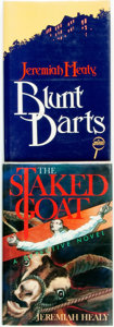 Books:Mystery & Detective Fiction, Jeremiah Healy. Pair of SIGNED First Editions. Includes: BluntDarts. New York: Walker and Company, [1984]. [togethe...(Total: 2 Items)