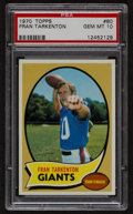 Football Cards:Singles (1970-Now), 1970 Topps Fran Tarkenton #80 PSA Gem Mint 10....