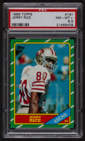 Football Cards:Singles (1970-Now), 1986 Topps Jerry Rice #161 PSA NM-MT+ 8.5....