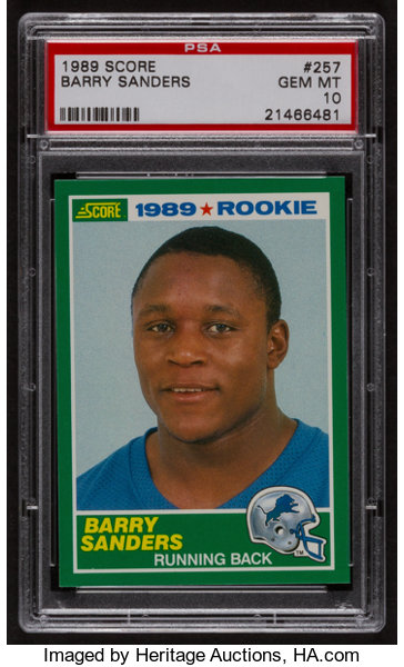 1989 Score Barry Sanders 257 Psa Gem Mint 10 Football