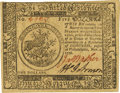 Colonial Notes:Continental Congress Issues, Continental Currency November 2, 1776 $5 Fr. CC-50. PCGS Choice New63PPQ.. ...