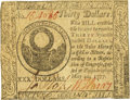 Colonial Notes:Continental Congress Issues, Continental Currency May 20, 1777 $30 Fr. CC-70. PCGS Choice AboutNew 55.. ...