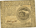 Colonial Notes:Continental Congress Issues, Continental Currency May 20, 1777 $4 Fr. CC-65. PCGS New 62.. ...