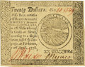 Colonial Notes:Continental Congress Issues, Continental Currency April 11, 1778 $20 Fr. CC-76. PCGS Choice New63PPQ.. ...