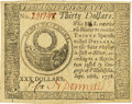 Colonial Notes:Continental Congress Issues, Continental Currency September 26, 1778 $30. Fr. CC-83 PCGS VeryChoice New 64.. ...