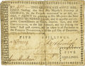Colonial Notes:Georgia, Province of Georgia 1774 Typeset Certificate 5 Shillings Fr. GA-52. PCGS Fine 15 Apparent.. ...