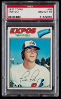 Baseball Cards:Singles (1970-Now), 1977 Topps Tim Foli #76 PSA Gem Mint 10 - Pop Four. ...