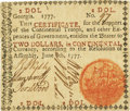 "Colonial Notes:Georgia, Georgia June 8, 1777 $2 Red ""In"" Fr. GA-104a. PCGS Very Fine35PPQ.. ..."