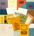 Miscellaneous:Booklets, [Pre-Raphaelites]. Large Lot of Twenty-Two Booklets. Variouspublishers and dates. Five signed by their authors....