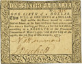 Colonial Notes:Maryland, Maryland December 7, 1775 $1/6 Fr. MD-80. PCGS Choice About New55PPQ.. ...
