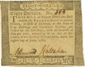 Colonial Notes:Maryland, Maryland June 8, 1780 $8 Fr. MD-114. PCGS Choice About New 55.. ...