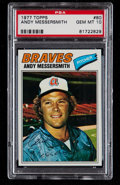 Baseball Cards:Singles (1970-Now), 1977 Topps Andy Messersmith #80 PSA Gem Mint 10 - Pop Four. ...