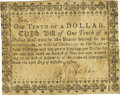 Colonial Notes:Maryland, State of Maryland October 17, 1780 Small Denomination Act $1/10 Fr.MD-124. PCGS Very Fine 25 Apparent.. ...