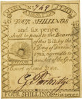 Colonial Notes:Massachusetts, Massachusetts 1779 4 Shillings 6 Pence Fr. MA-273. PCGS About New 53.. ...