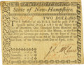 Colonial Notes:New Hampshire, State of New Hampshire April 29, 1780 $2 Fr. NH-180. PCGS ExtremelyFine 40.. ...