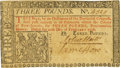 Colonial Notes:New Jersey, New Jersey February 20, 1776 3 Pounds John Hart Signature Fr. NJ-174. PCGS Choice New 63 Apparent.. ...