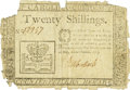 Colonial Notes:North Carolina, North Carolina May 17, 1783 20 Shillings Fr. NC-206. PCGS Very Fine20 Apparent.. ...