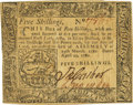 Colonial Notes:Pennsylvania, Pennsylvania April 29, 1780 5 Shillings Fr. PA-225. PCGS ExtremelyFine 40 Apparent.. ...