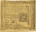 Colonial Notes:Pennsylvania, Pennsylvania April 3, 1772 2 Shillings John Morton Signature Fr.PA-156. PCGS Very Fine 30.. ...