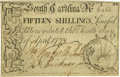 Colonial Notes:South Carolina, South Carolina April 10, 1778 15 Shillings Fr. SC-150. PCGS ChoiceAbout New 58PPQ.. ...