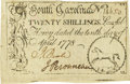 Colonial Notes:South Carolina, South Carolina April 10, 1778 20 Shillings Fr. SC-151. PCGS About New 50.. ...