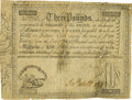 Colonial Notes:South Carolina, South Carolina Treasury of this State May 1, 1786. 3 Pounds Fr.SC-171 Anderson-Smythe UNL. PCGS Fine 15 Apparent.. ...