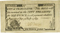 Colonial Notes:South Carolina, South Carolina City of Charleston July 6, 1789 6 Pence Fr. SC-194.PCGS Extremely Fine 45.. ...