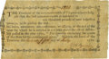 "Colonial Notes:Virginia, Virginia Treasurer's Office Indebted for ""one thousand pounds nettinspected tobacco"" July 25, 1780. Fr. VA-190.1 Anderson-Smy..."