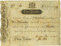 Colonial Notes:Virginia, Virginia March 4, 1773 3 Pounds Ashby Note Fr. VA-69. PCGS Very Fine 35.. ...