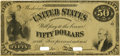 Large Size:Demand Notes, Fr. 198 $50 Act of March 3, 1863 One Year Treasury Note Face Specimen Hessler ITE8FD. PCGS About New 53.. ...