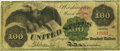 Large Size:Legal Tender Notes, Fr. 165b $100 1862 Legal Tender PCGS Very Fine 25 Apparent.. ...