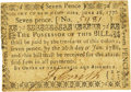 Colonial Notes:New Hampshire, New Hampshire June 28, 1776 7 Pence Fr. NH-162. PCGS About New 50.....