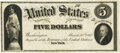 Large Size:Demand Notes, Fr. 61 $5 1862 Legal Tender March 10, 1862 Hessler 244FD Face Proof. PCGS About New 50 Apparent.. ...