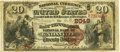 National Bank Notes:Tennessee, Knoxville, TN - $20 1882 Brown Back Fr. 499 The East Tennessee NBCh. # (S)2049 PCGS Very Fine 25. . ...