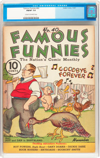 Famous Funnies #40 (Eastern Color, 1937) CGC FN/VF 7.0 Cream to off-white pages