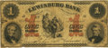 Obsoletes By State:Pennsylvania, Lewisburg, PA - Lewisburg Bank $1 May 16, 1861 PA-240 G2a Hoober 191-2. PCGS Fine 15PPQ.. ...