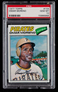 Baseball Cards:Singles (1970-Now), 1977 Topps Omar Moreno #104 PSA Gem Mint 10 - Pop Three. ...