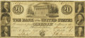 Obsoletes By State:Pennsylvania, Philadelphia, PA - Bank of the United States (the Third) $20 June 1, 1837 US-3 G8 Hoober 305-158. PCGS Very Fine 25.. ...