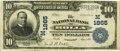 National Bank Notes:Missouri, Rolla, MO - $10 1902 Date Back Fr. 620 The NB of Rolla Ch. #(M)1865 PCGS Very Fine 20 Apparent.. ...