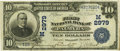 National Bank Notes:Missouri, Palmyra, MO - $10 1902 Date Back Fr. 616 The First NB Ch. # (M)2979PCGS Very Fine 30.. ...