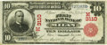 National Bank Notes:Missouri, Milan, MO - $10 1902 Red Seal Fr. 613 The First NB Ch. # (M)3110PCGS Very Fine 30.. ...