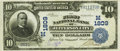National Bank Notes:Missouri, Jefferson City, MO - $10 1902 Plain Back Fr. 627 The First NB Ch. #(M)1809 PCGS Very Fine 30.. ...