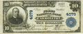 National Bank Notes:Missouri, Carrollton, MO - $10 1902 Plain Back Fr. 626 The First NB Ch. #4079 PCGS Very Fine 25PPQ.. ...