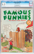 Platinum Age (1897-1937):Miscellaneous, Famous Funnies #16 (Eastern Color, 1935) CGC FN+ 6.5 Off-white to white pages....