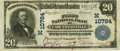 National Bank Notes:Missouri, Caruthersville, MO - $20 1902 Plain Back Fr. 658 The First NB Ch. #(M)10784 PCGS Very Fine 25.. ...